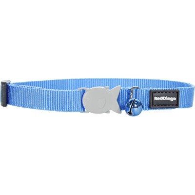 Red Dingo Classic Cat Collar, One Size Fits All, Mid-Blue by Red Dingo