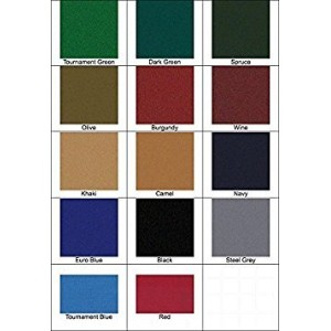 8 ' Proform High Speed Professional Pool Table Clothフェルト – ユーロブルー