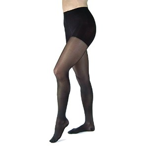 JOBST UltraSheer 8-15 mmHg Closed Toe Waist Support Stocking, Classic Black, Large by Jobst