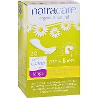 Natracare Natural Organic Thong Style Panty Liners -- 30 Pads (2 packs)