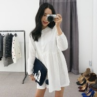 [WhiteFox] Long-sleeved dress with a stain on you SA-1410 korean fashion style