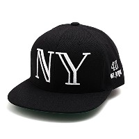 (40オズ ニューヨーク) 40oz NYC BALMAIN INSPIRED SNAPBACK CAP BLACK×WHITE キャップ F 黒