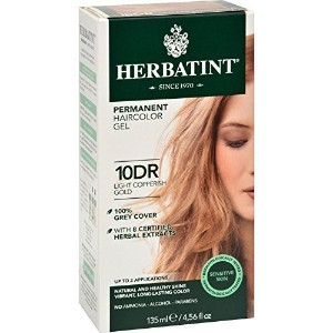 Herbatint Permanent Herbal Hair color Gel #10DR Light Copperish Gold - 1 Ea, Pack of 2 (image may...
