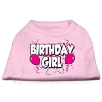 Mirage Pet Products 51-06 SMLPK Birthday Girl Screen Print Shirts Light Pink Sm - 10