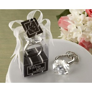 With This Ring Engagement Ring Keychain [SET OF 24] by CutieBeauty KA [並行輸入品]