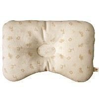 (Basic Animal Friend) Organic Cotton Baby Protective Sleeping Pillow.From Newborn Prevent from flat...
