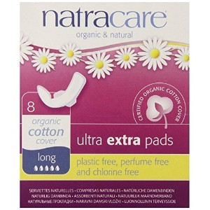 Natracare Ultra Extra Pads with Wings, Long, 8 Count by Natracare [並行輸入品]