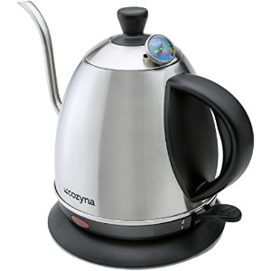 Electric Gooseneck Kettle for Drip and Pour Over Coffee and Tea By Cozyna, Stainless Steel, 1L by...