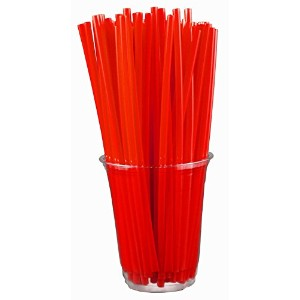 1 X Drinking Straws - RED (Box of 250) by Barproducts.com, Inc.