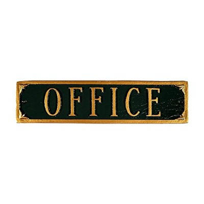 Montague Metal Products Office Plaque, 11.5 by 2.75-Inch, Hunter Green/Gold [並行輸入品]