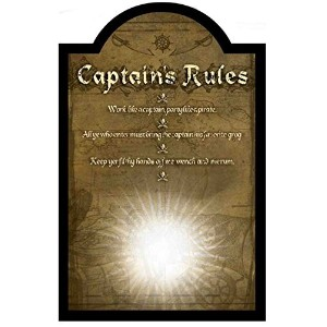 Crystal Art 'Sign Of The Times' Captains Rules Pub Sign, 16' x 24' [並行輸入品]