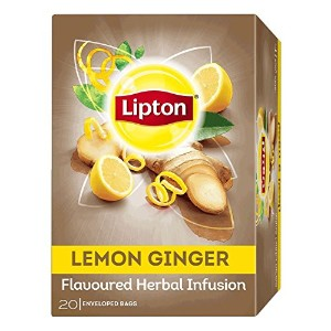 Natural Herbal Infusion 20 Teabags Flavors Healthy Beverages Relaxing Tea (Lemon Ginger)