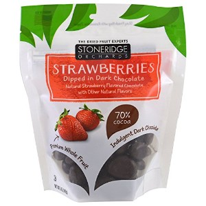 Stoneridge Orchards, Strawberries, Dipped in Dark Chocolate, 5 oz ブラックチョコレートに浸したストロベリー(142 g)