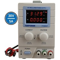 Tekpower TP3005T Variable Linear DC Power Supply, 0 - 30V @ 0 - 5A with Alligator Cable and Power...