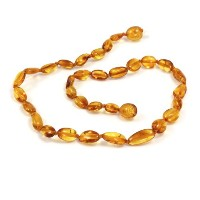 Momma Goose Baltic Amber Baby Necklaces (small, olive honey) by Momma Goose