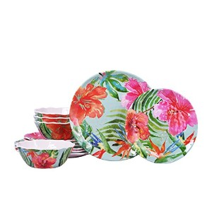 222Fifth Tropic Vibe 12Piece Set , Service for 4