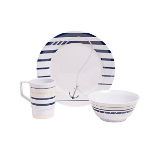 Galleywareニューポートメラミン18 Piece Dinnerware Set