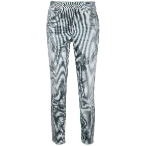 Cambio striped cropped jeans - ブルー