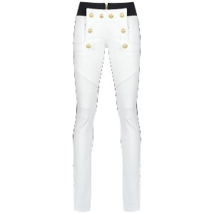 Andrea Bogosian leather skinny trousers - ホワイト