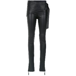 Andrea Bogosian layered skinny trousers - ブラック