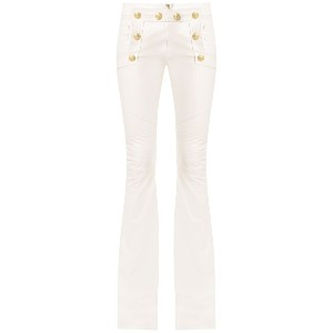 Andrea Bogosian flared leather trousers - ホワイト
