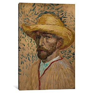 iCanvasART 1 Piece Self Portrait With Straw Hatキャンバスプリントby Vincent Van Gogh 1.5 x 26 x 40-Inch 14388