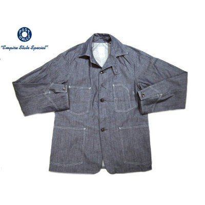 【期間限定30%OFF!】POST OVERALLS(ポストオーバーオールズ)/#1102XXR CONE 7oz DENIM ENGINEER'S JACKET/indigo【アウトレット】