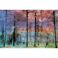 Marmont Hill Lost in the Forest壁アート 24-Inch by 16-Inch Jen Lee-03-C-24