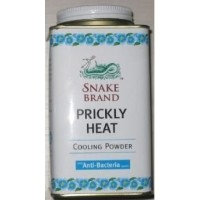 Snake Brand Prickly Heat Cooling Powder, good for heat rash, 1 Can (Anti-Bacteria, 150g) by Prickly...