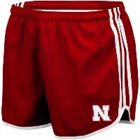 NCAA adidasネブラスカCornhuskersレディースScarlet Princess Running Shorts XL