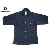 POST OVERALLS(ポストオーバーオールズ)/#1231L TOWN & COUNTRY COTTON BROADCLOTH SHIRTS/navy【父の日】【ギフト】