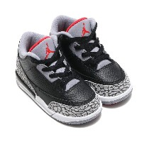 NIKE JORDAN 3 RETRO BT(ナイキ ジョーダン 3 レトロ BT)BLACK/FIRE RED-CEMENT GREY-WHITE【キッズ スニーカー】18SP-S