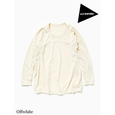 and wander アンドワンダー|W's dry jersey long sleeve T #Offwhiteドライジャージー ロングスリーブT (ウィメンズ) #Offwhite