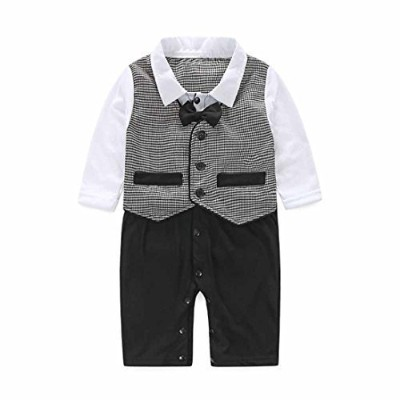 FEITONG Baby Boy's Formal Party Christening Wedding Tuxedo Waistcoat Bow Tie Suit (12 Months) by...