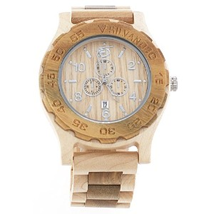 Watch Barkwood新しいSilvano Two Tone Maple withライトブラウンLight Weight天然木製