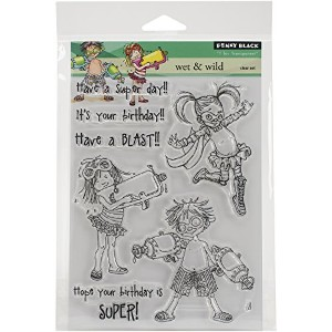 Penny Black Wet & Wild Clear Stamps Sheet, 5 x 6.5 by Penny Black