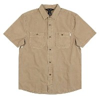 Poler Washed S/S Woven Shirt Tahiti Tan L シャツ 送料無料