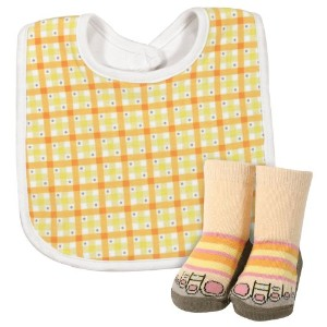 Stephan Baby Infant Girl Gift-to-Go Bib and Bootie Socks Set, Just Ducky, 6-12 Months by Stephan...