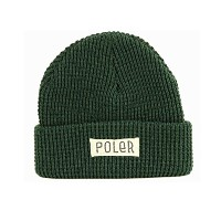 [ポーラー] POLeR CAMPING STUFF WORKER MAN BEANIE DARK GREEN