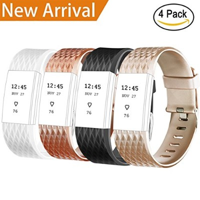 Vancle Fitbit Charge 2 バンド 交換ベルト 交換バンド for Fitbit Charge 2 Heart Rate(追跡装置でない) (4色セット special,...