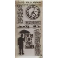TIM HOLTZ - Visual Artistry Collection Clear Stamps - Life's Possibilities by Tim Holtz