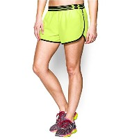 Under Armour Women 's Perfect Pace Short XL イエロー