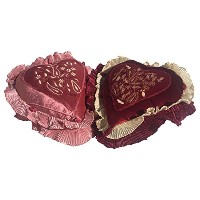 """GiftBayハート形状のセット2スロー枕クッションカバー11"""" x 13"""" with枕、Perfect for Valentine Day"""