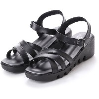 ドクター ショール Dr.Scholl Dr.Scholl Double Crossed Belt Sandals (Black) レディース
