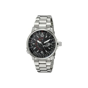 シチズンウォッチ メンズ 腕時計 アクセサリー BJ7000-52E Eco-Drive Nighthawk Stainless Steel Watch Silver Band/Silver...