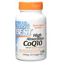 海外直送品 Doctors Best High Absorption CoQ10, 120 VCaps 100 Mg