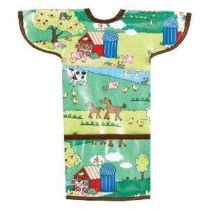 AM PM Kids! Sleeved Toddler Laminated Bib, Barnyard by AM PM Kids!