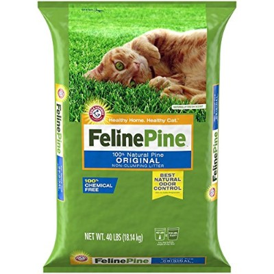 Feline Pine Original Cat Litter Natural Odor Control Safe Chemical Free 40lbs