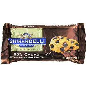Ghirardelli Chocolate Baking Chips, Bittersweet Chocolate, 10 oz.,(Pack of 6) by Ghirardelli
