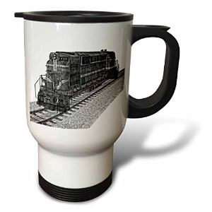 BoehmグラフィックスTrain – A Freight Car seen from the Side – 旅行マグ 14oz Travel Mug ホワイト tm_179990_1